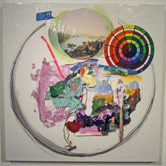 """Landscape #2  Acrylic, Mix media, Vinyl   30""""x30"""" 2014"""